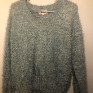 Fuzzy Frosty Blue Casual Sweater